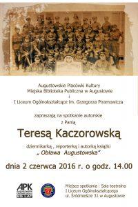 Kaczorowska plakat