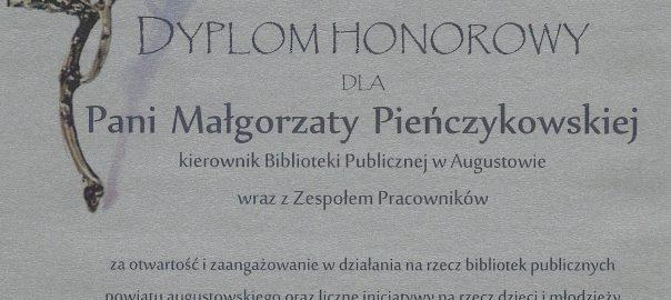 Więcej o: Dyplom Honorowy został przyznany