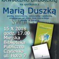 Więcej o: Kawiarenka Literacka..spotkanie z Marią Duszką
